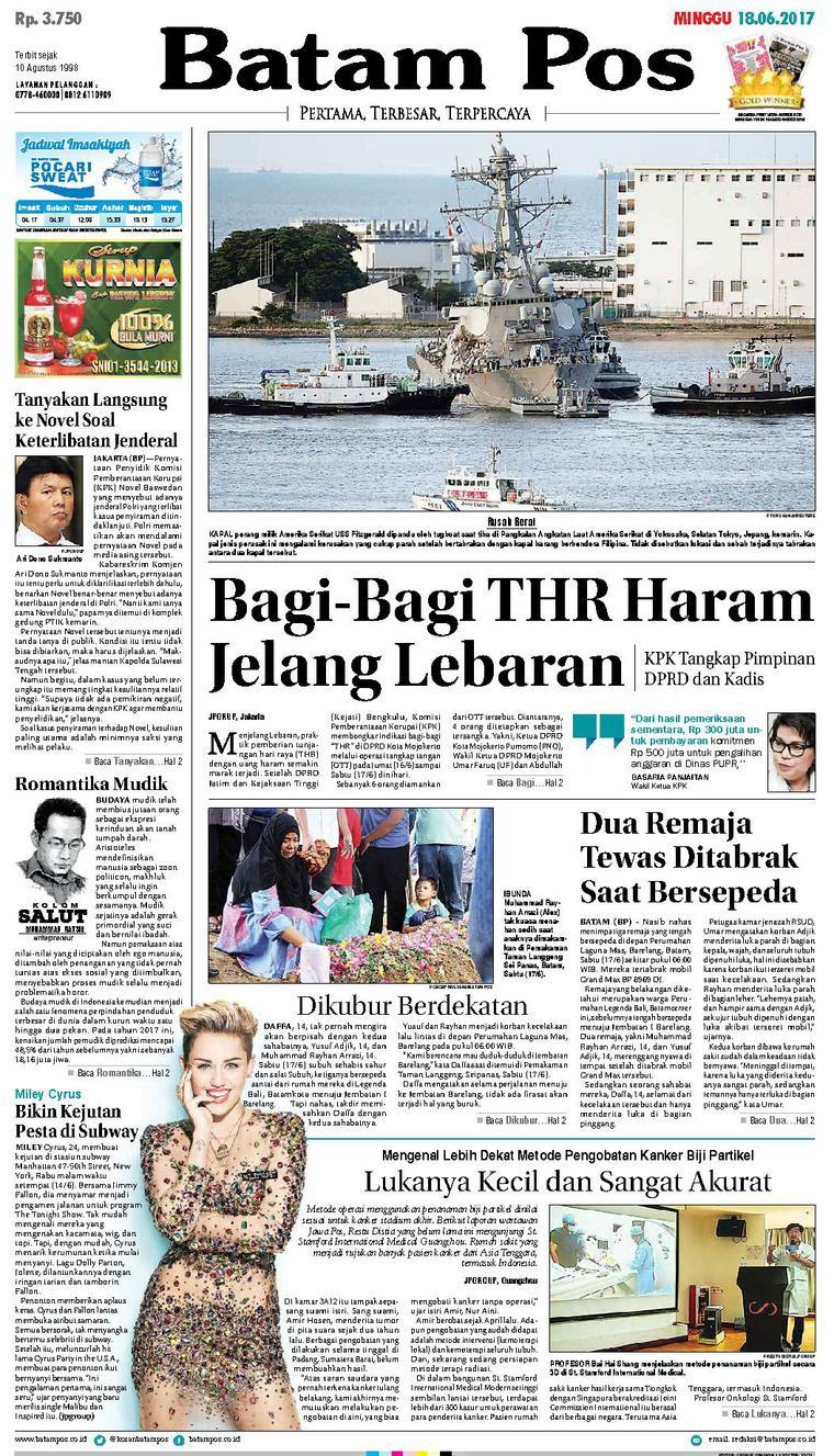 Koran Digital Batam Pos 18 Juni 2017