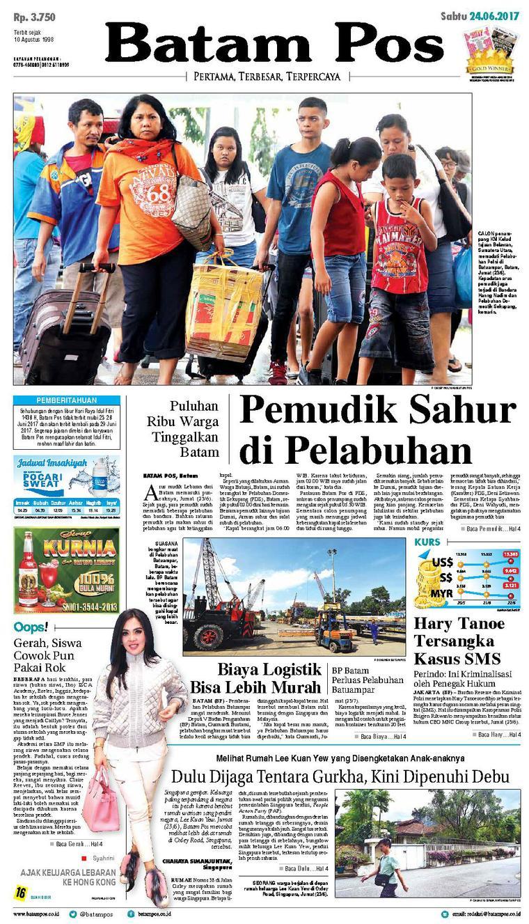 Koran Digital Batam Pos 24 Juni 2017