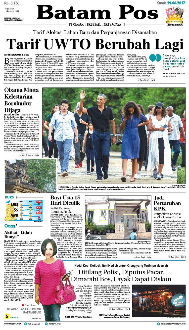 Koran Digital Batam Pos 29 Juni 2017