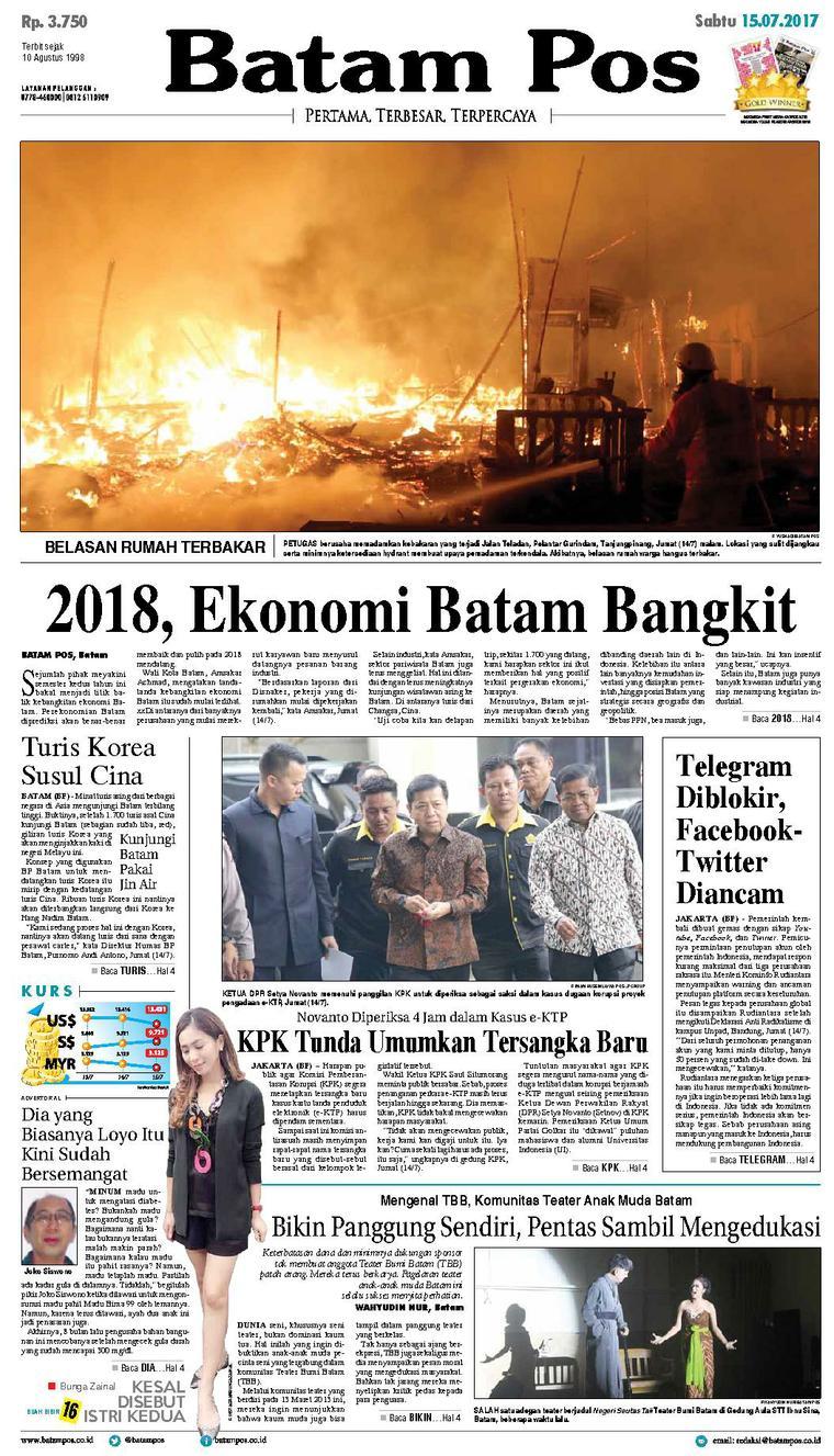 Koran Digital Batam Pos 15 Juli 2017