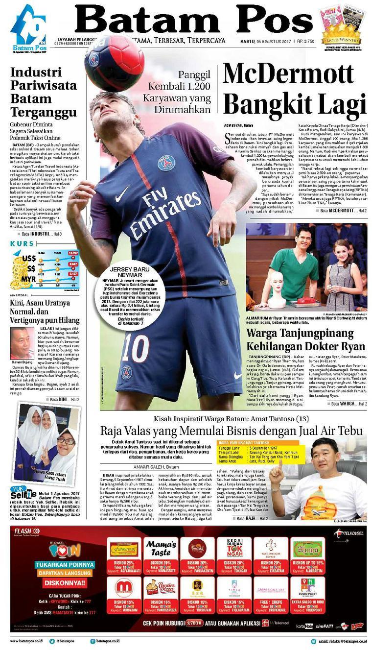 Koran Digital Batam Pos 05 Agustus 2017