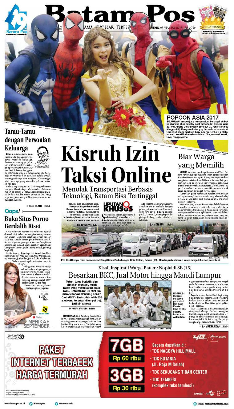 Koran Digital Batam Pos 07 Agustus 2017