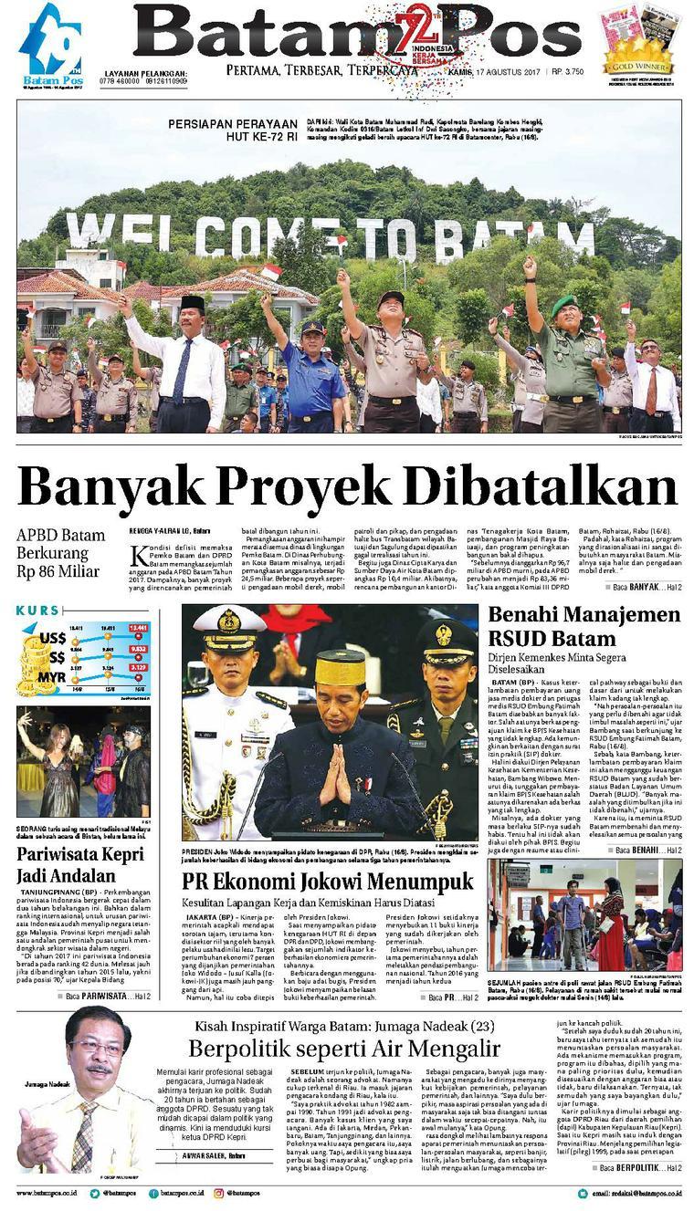 Koran Digital Batam Pos 17 Agustus 2017
