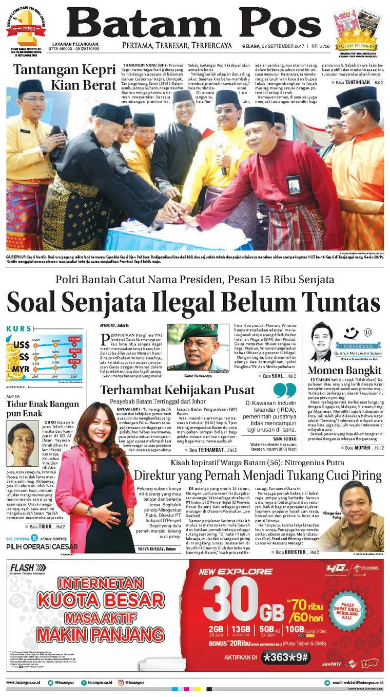 Koran Digital Batam Pos 26 September 2017