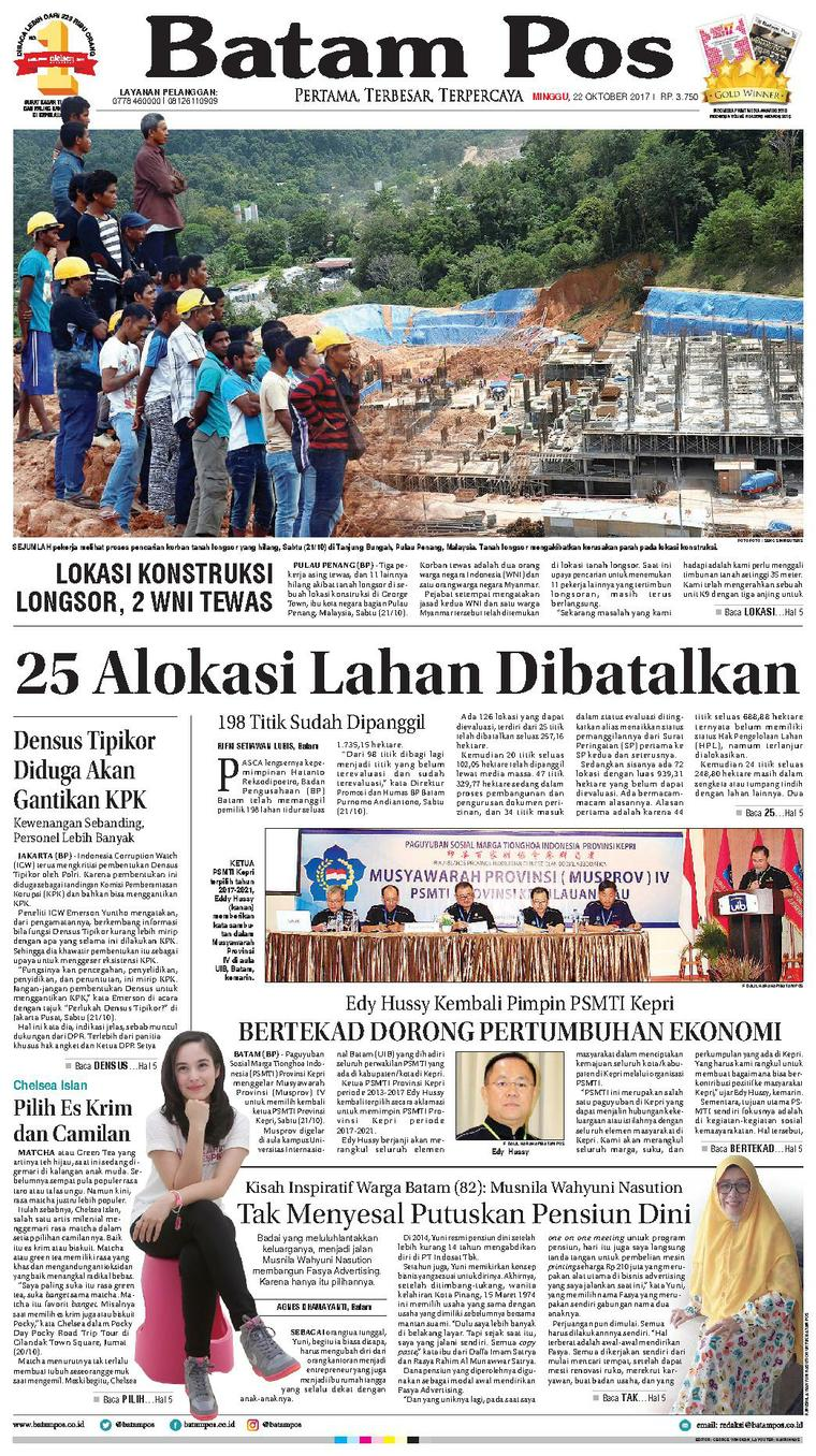 Koran Digital Batam Pos 22 Oktober 2017