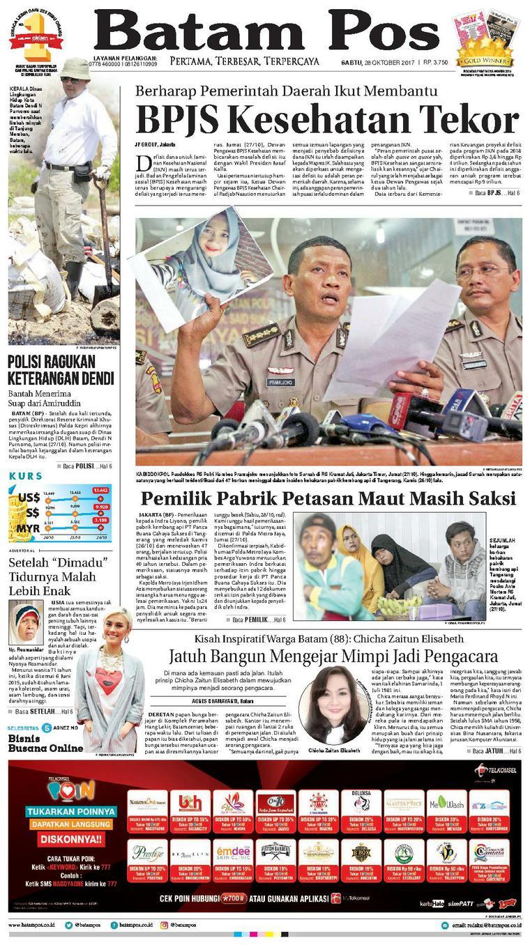 Koran Digital Batam Pos 28 Oktober 2017