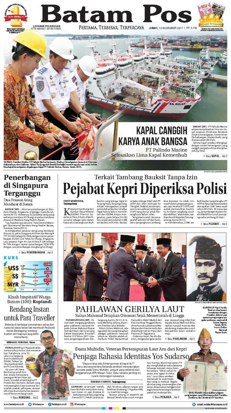 Koran Digital Batam Pos 10 November 2017