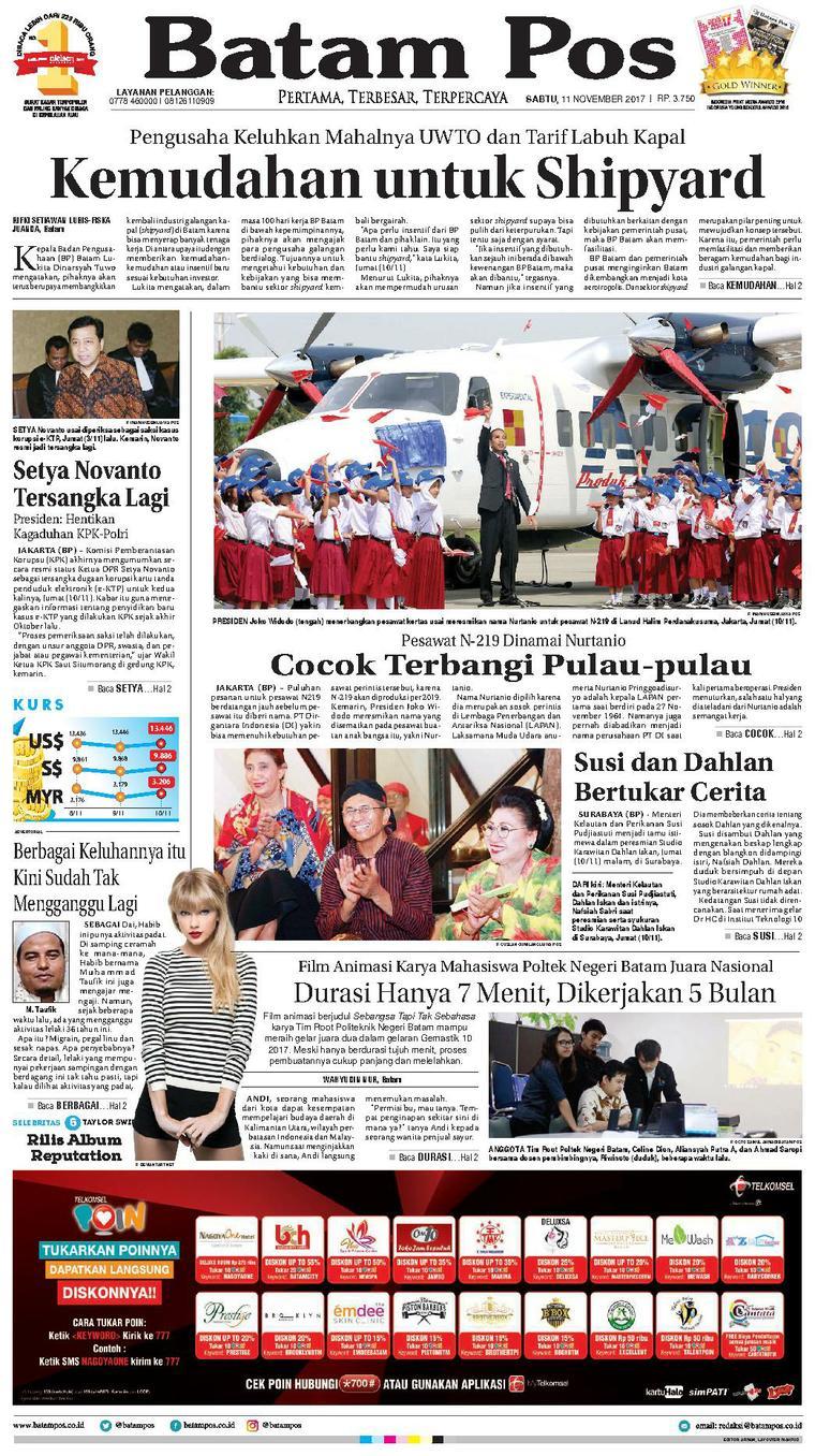 Koran Digital Batam Pos 11 November 2017