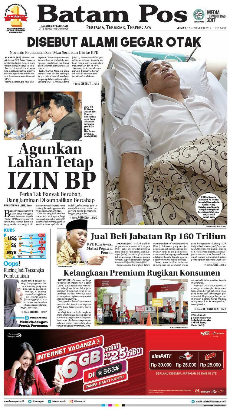 Koran Digital Batam Pos 17 November 2017