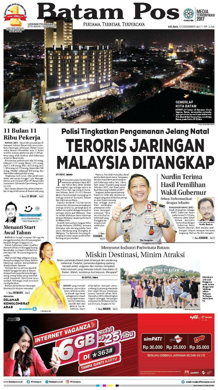 Koran Digital Batam Pos 12 Desember 2017