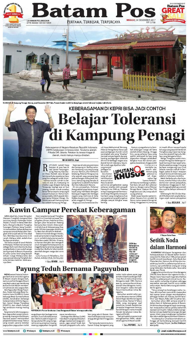 Koran Digital Batam Pos 24 Desember 2017