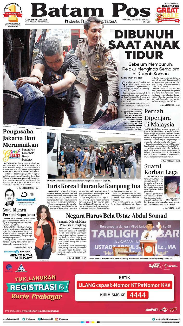 Koran Digital Batam Pos 26 Desember 2017