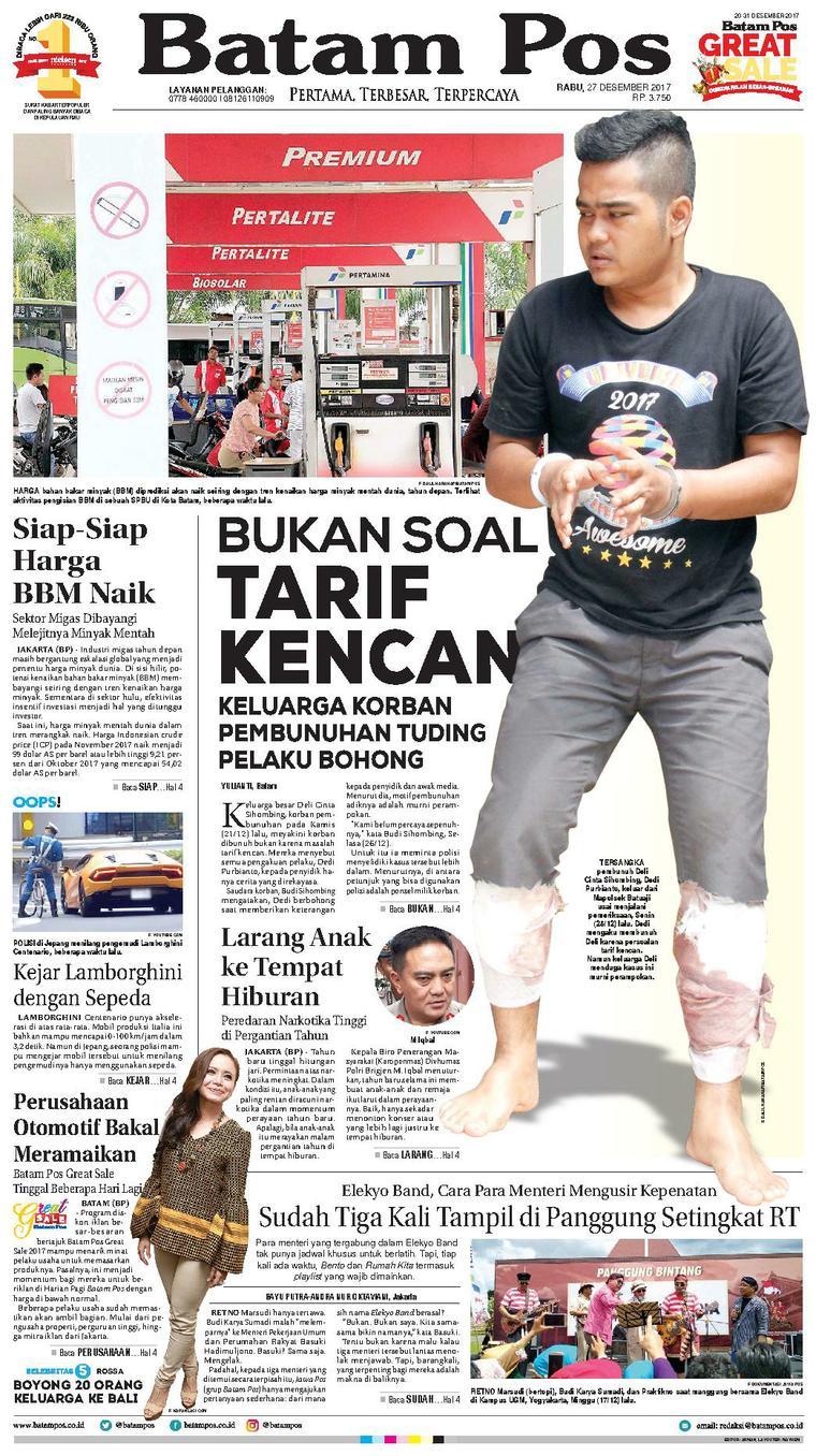 Koran Digital Batam Pos 27 Desember 2017