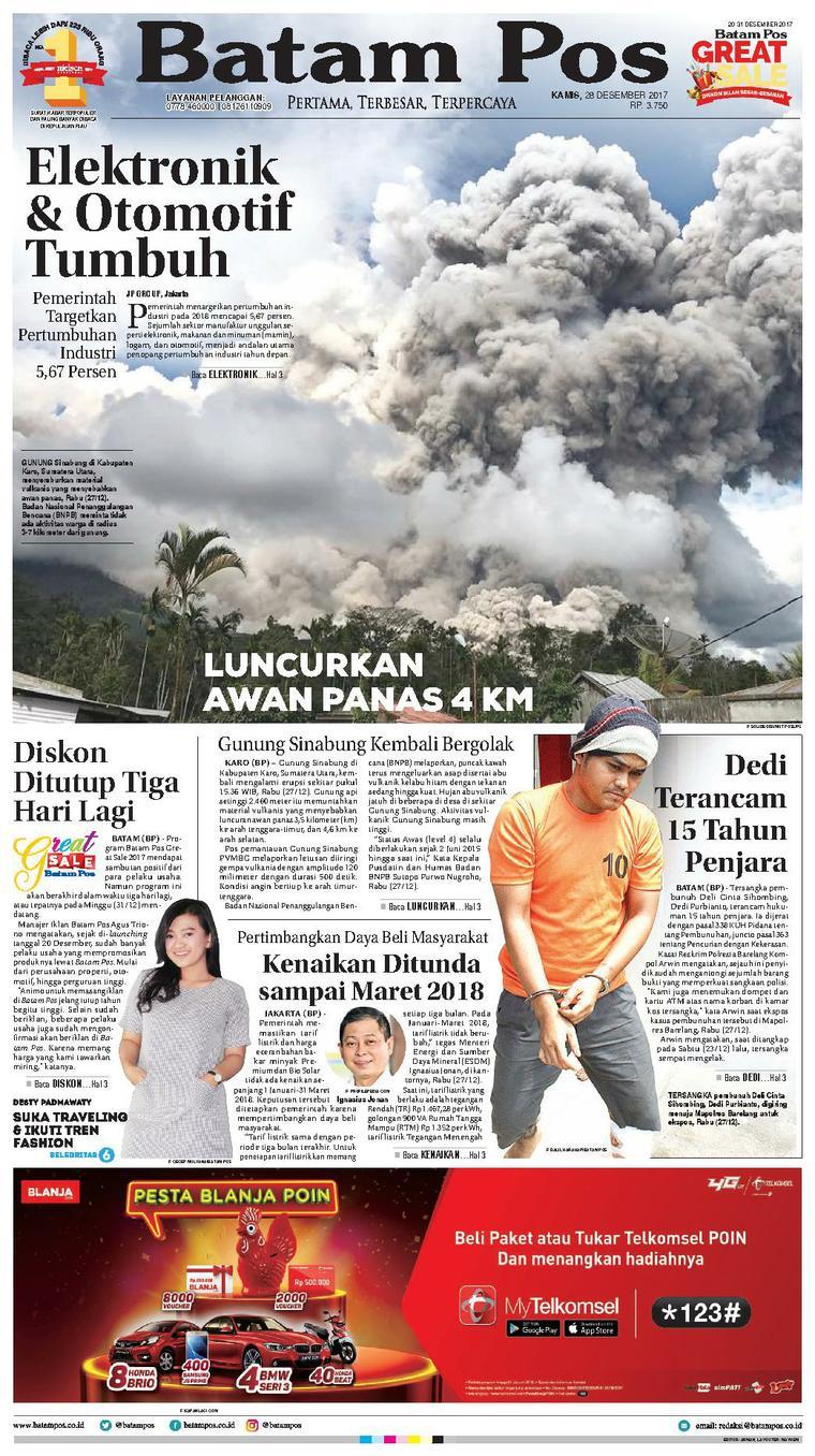 Koran Digital Batam Pos 28 Desember 2017