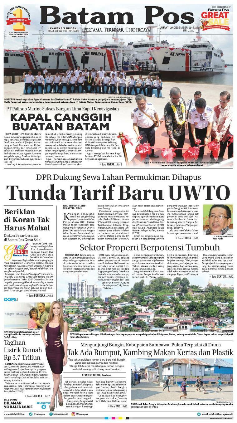 Koran Digital Batam Pos 29 Desember 2017