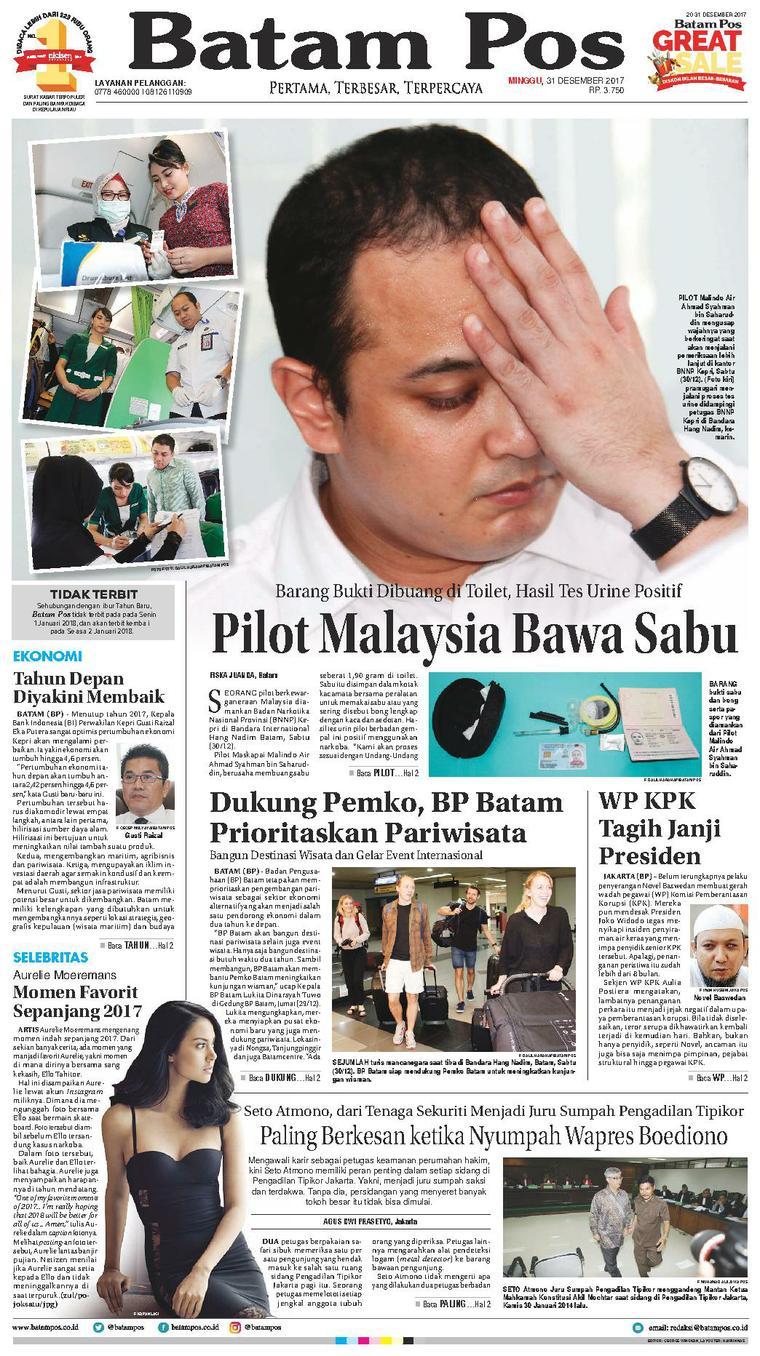 Koran Digital Batam Pos 31 Desember 2017