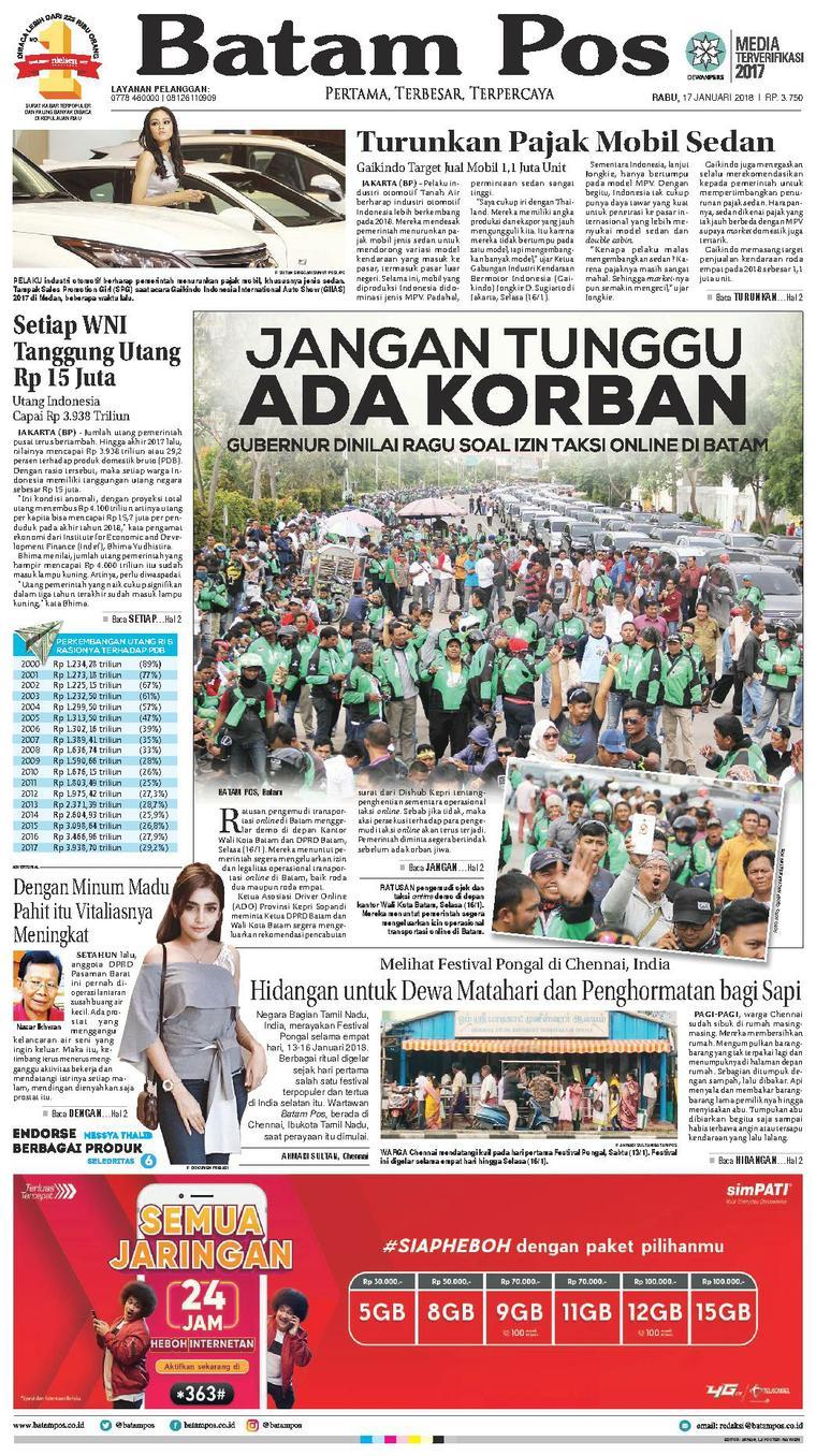 Koran Digital Batam Pos 17 Januari 2018