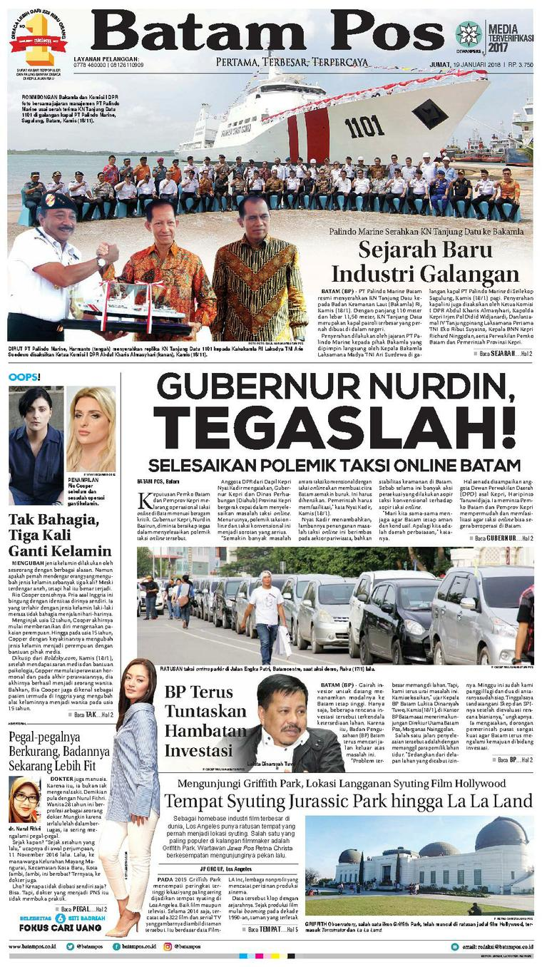 Koran Digital Batam Pos 19 Januari 2018