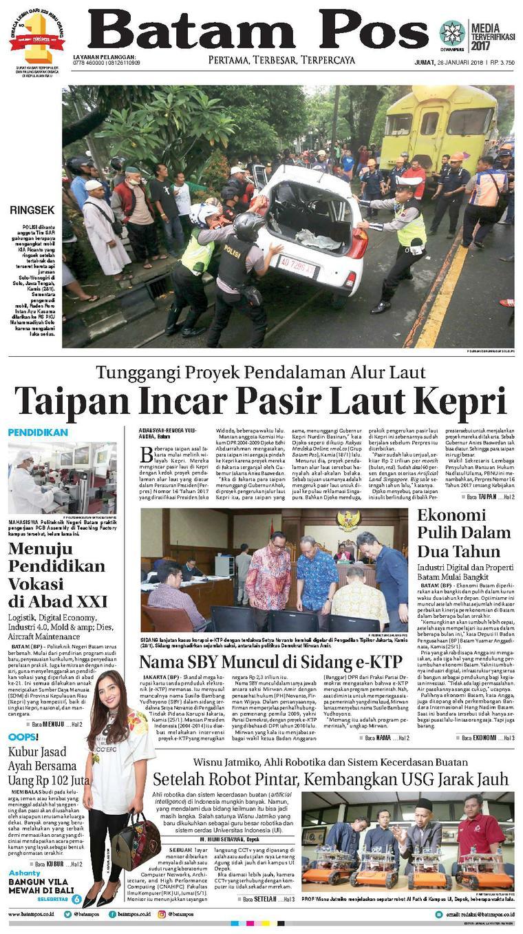 Koran Digital Batam Pos 26 Januari 2018
