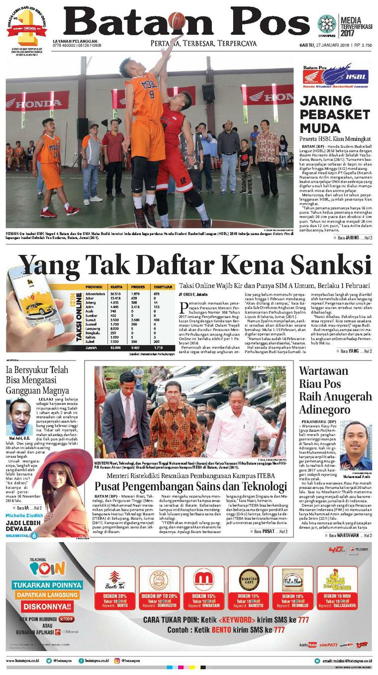 Koran Digital Batam Pos 27 Januari 2018