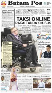 Cover Batam Pos 15 Maret 2018