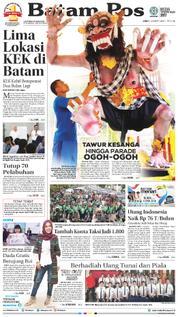 Cover Batam Pos 16 Maret 2018