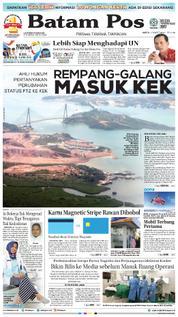 Cover Batam Pos 17 Maret 2018