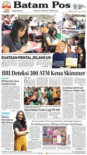 Cover Batam Pos 18 Maret 2018