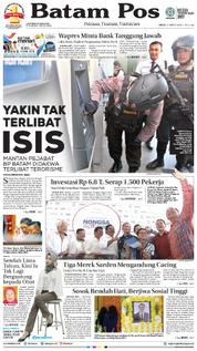 Cover Batam Pos 21 Maret 2018