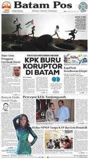 Cover Batam Pos 06 April 2018