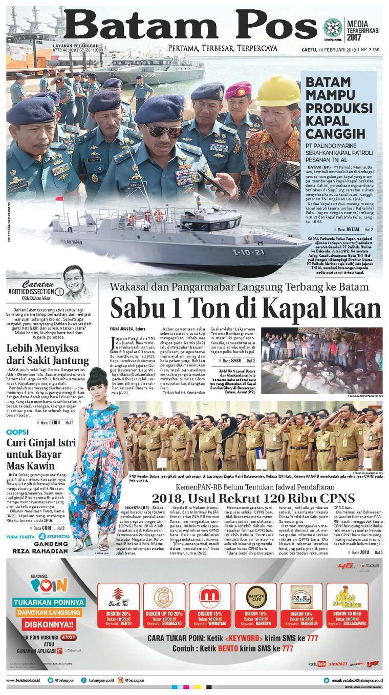 Koran Digital Batam Pos 10 Februari 2018