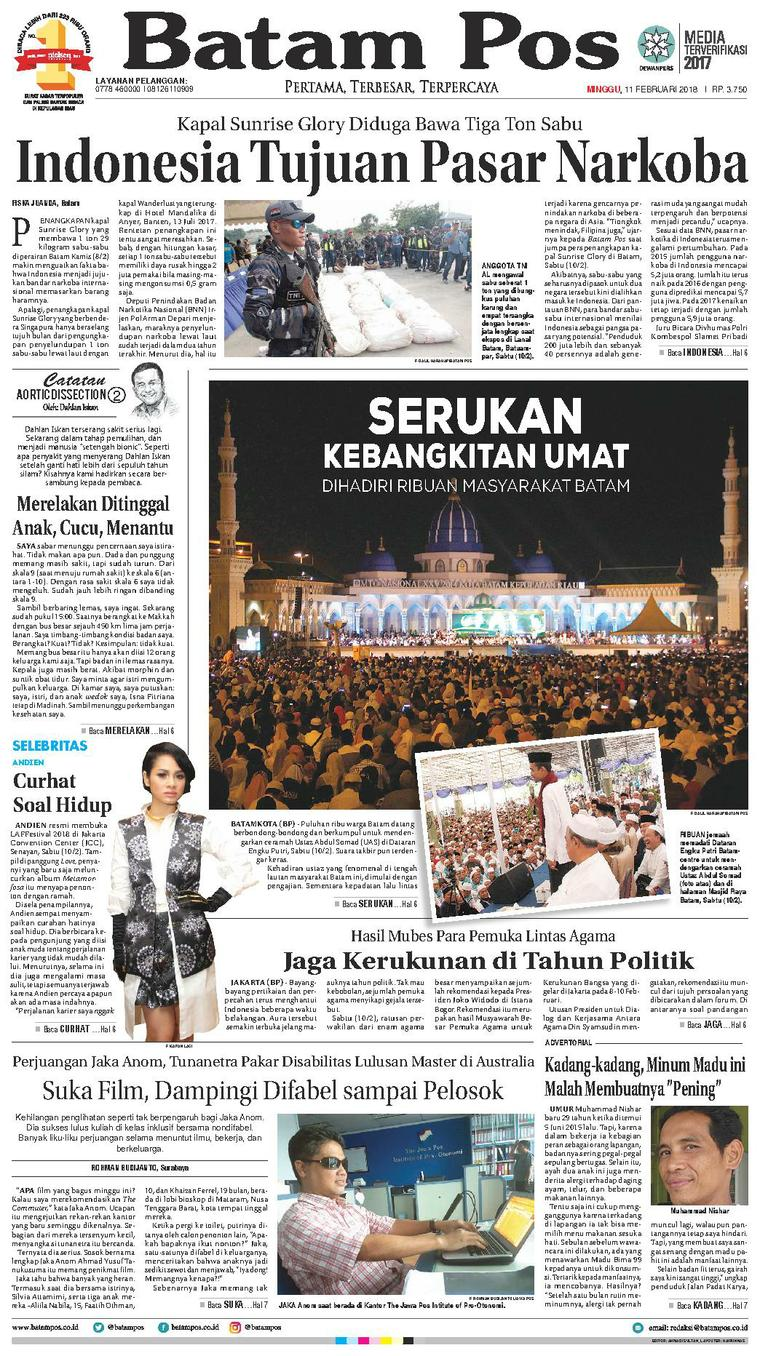 Koran Digital Batam Pos 11 Februari 2018