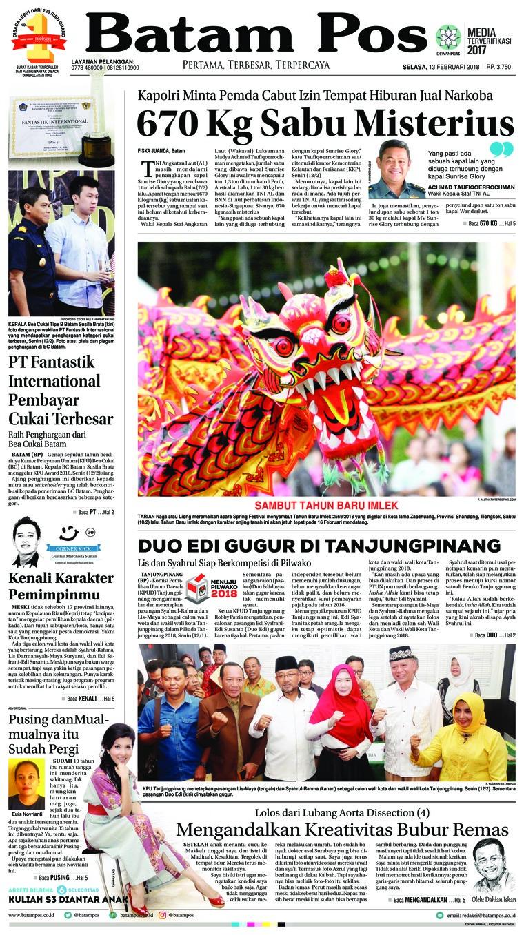 Koran Digital Batam Pos 13 Februari 2018