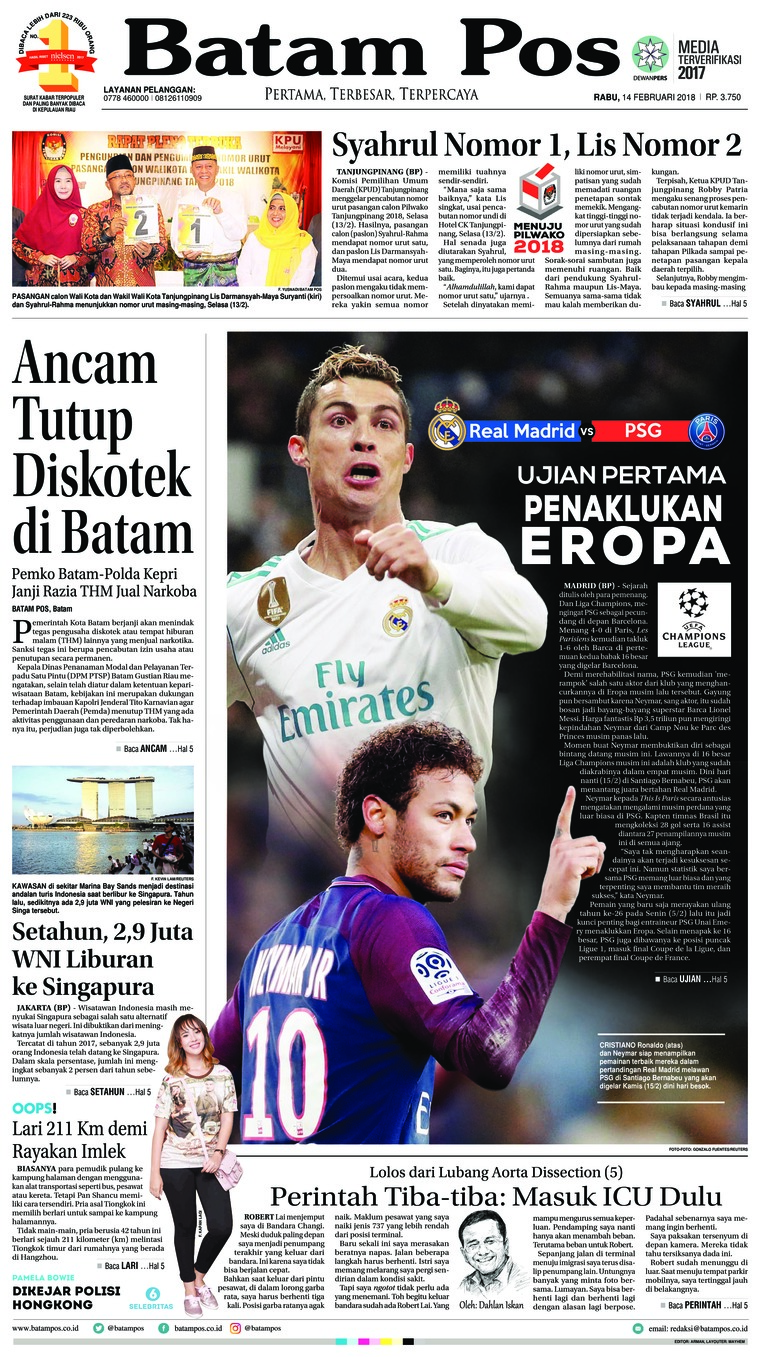 Koran Digital Batam Pos 14 Februari 2018