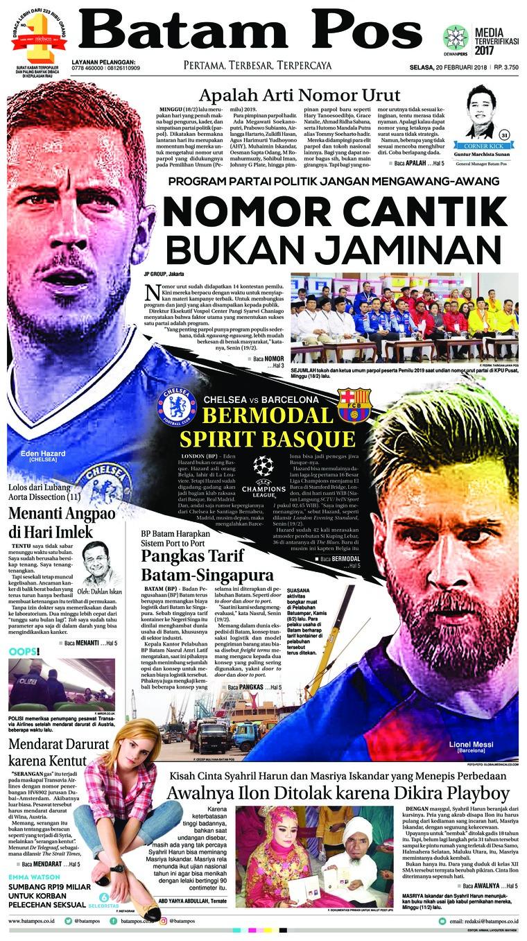 Koran Digital Batam Pos 20 Februari 2018