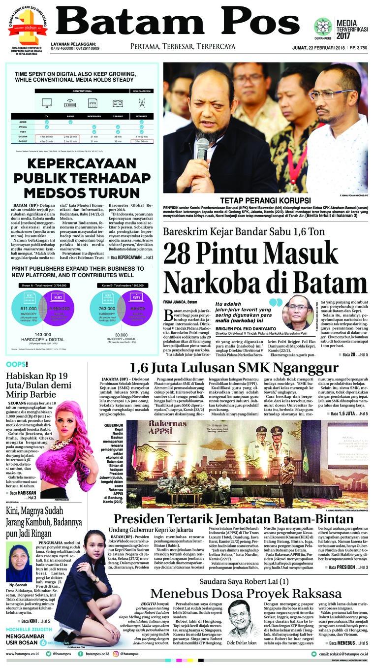 Koran Digital Batam Pos 23 Februari 2018