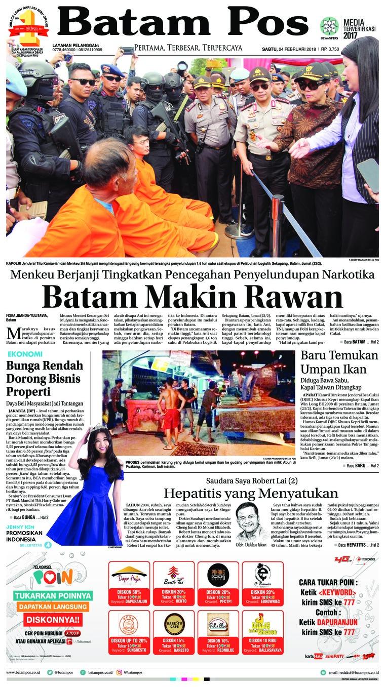 Koran Digital Batam Pos 24 Februari 2018