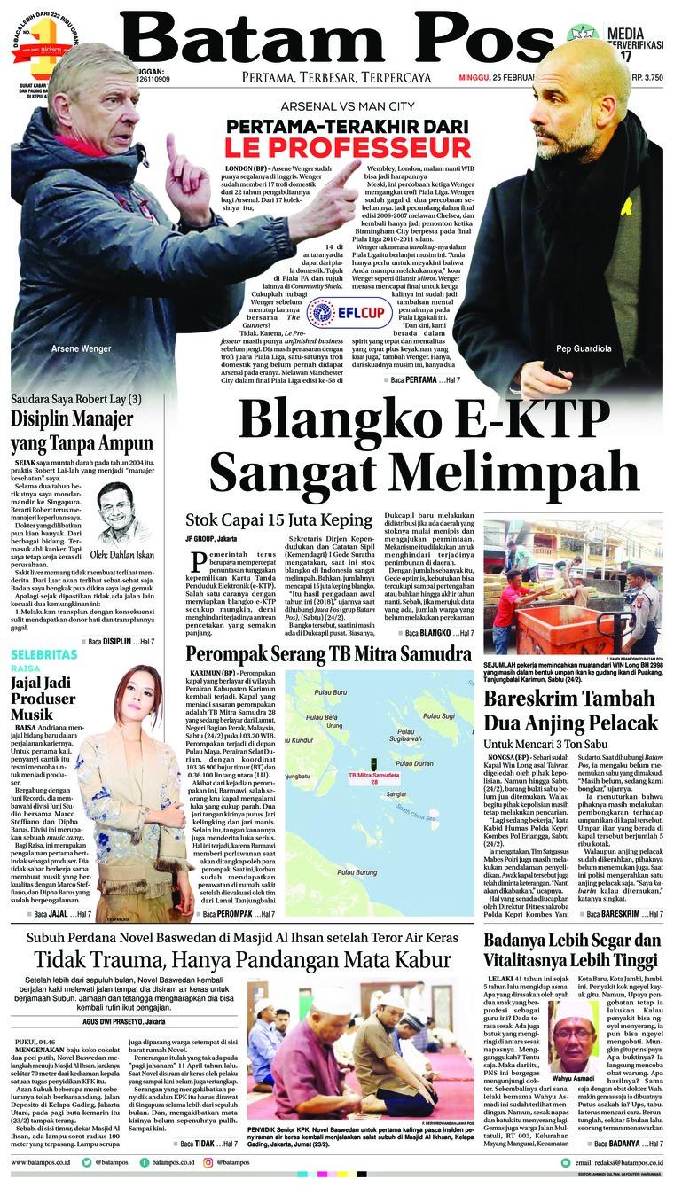 Koran Digital Batam Pos 25 Februari 2018