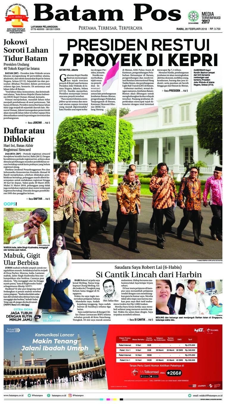 Koran Digital Batam Pos 28 Februari 2018