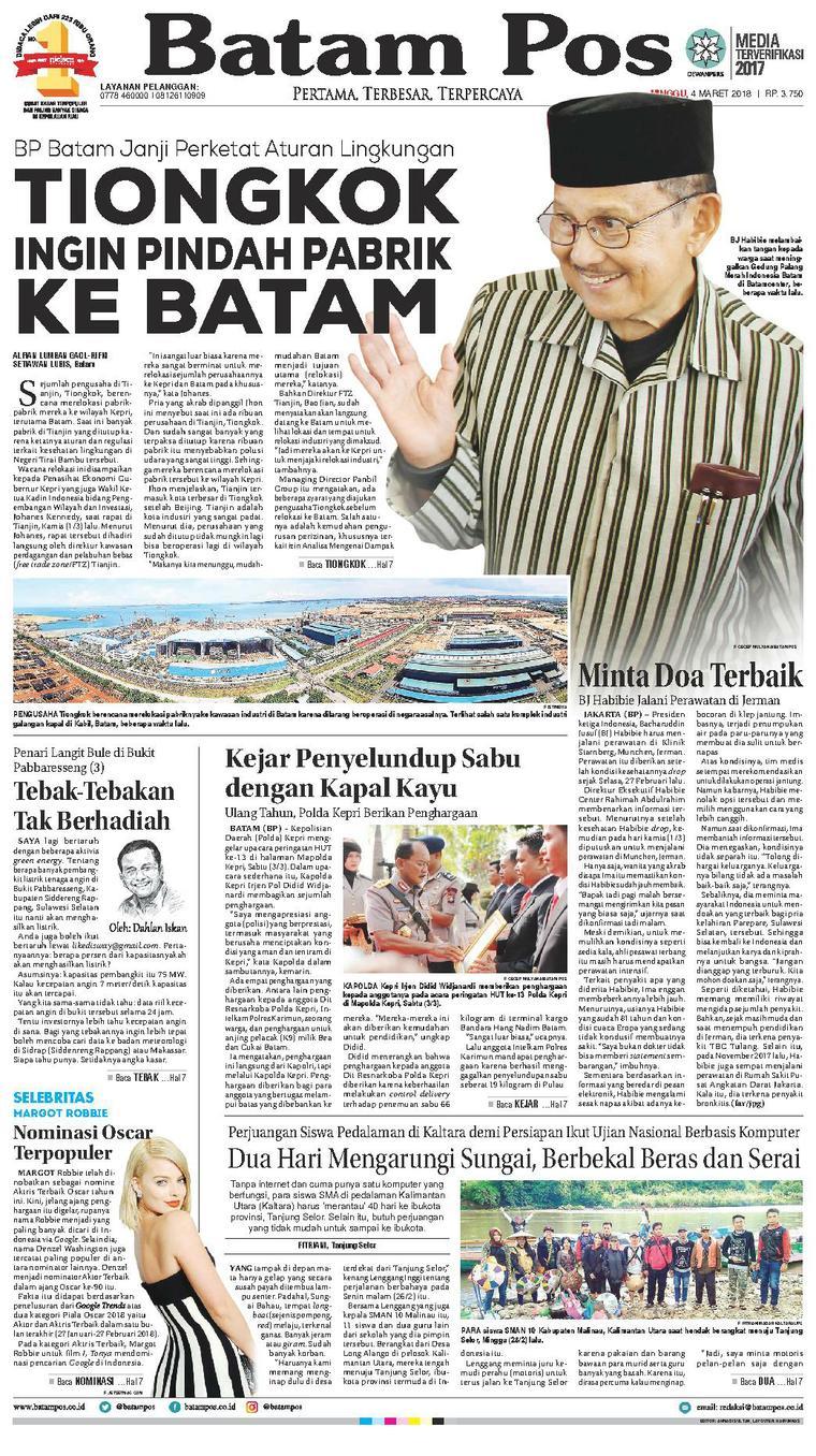 Koran Digital Batam Pos 04 Maret 2018