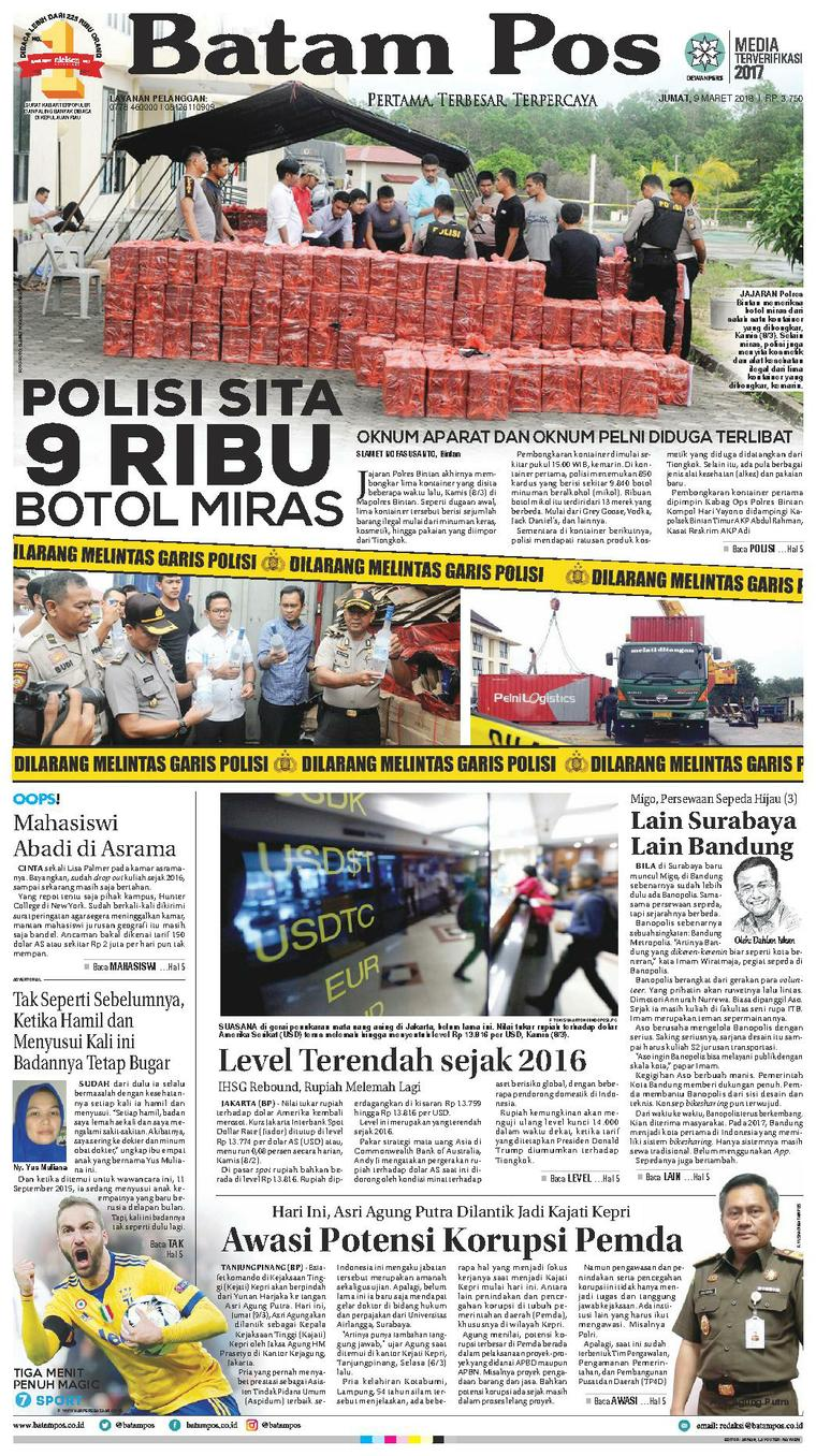 Koran Digital Batam Pos 09 Maret 2018