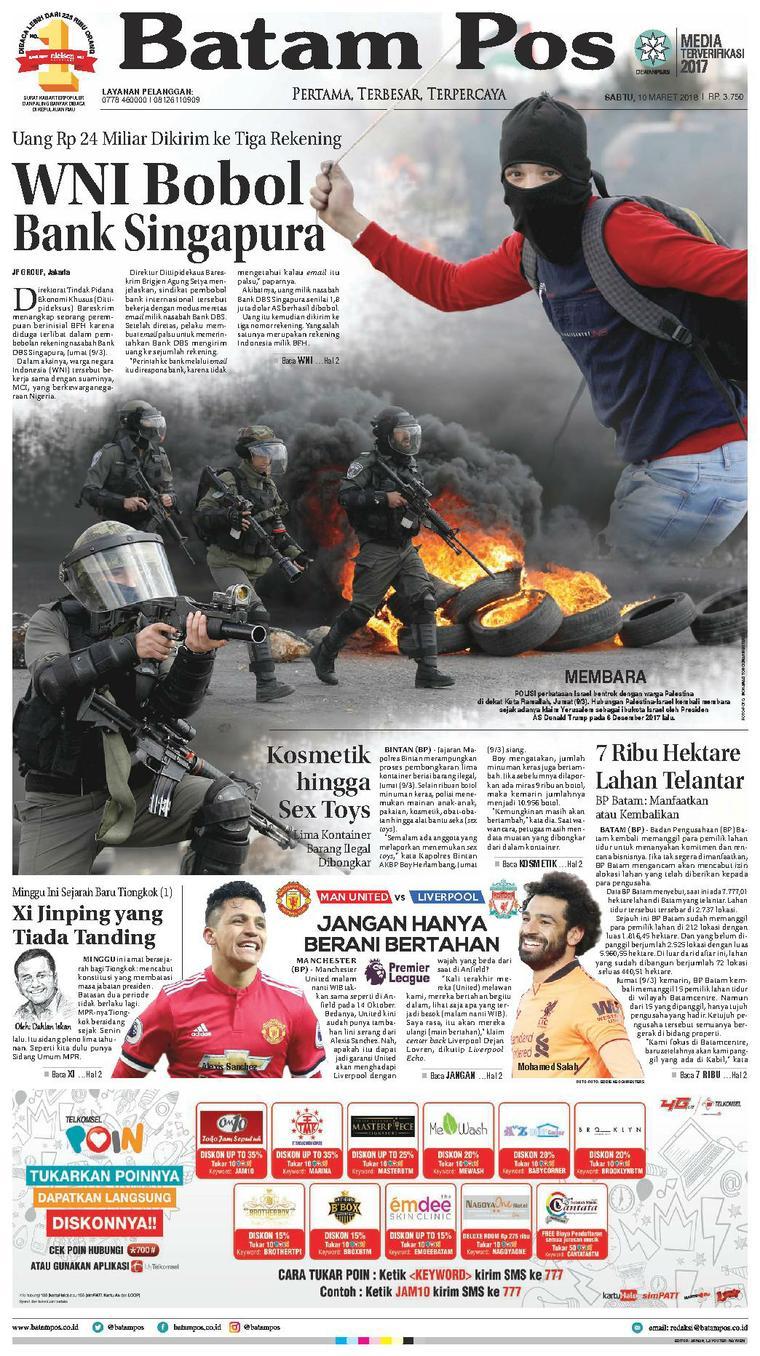 Koran Digital Batam Pos 10 Maret 2018
