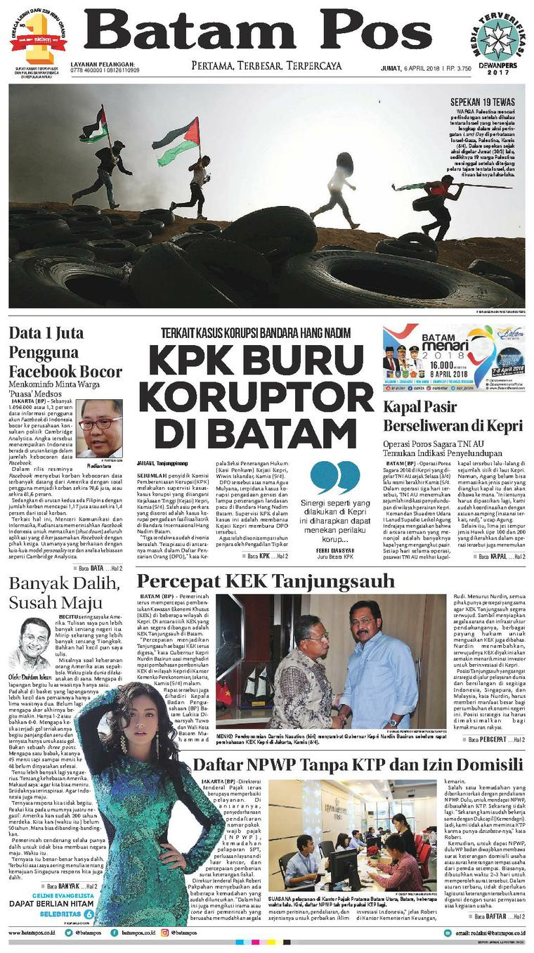 Koran Digital Batam Pos 06 April 2018