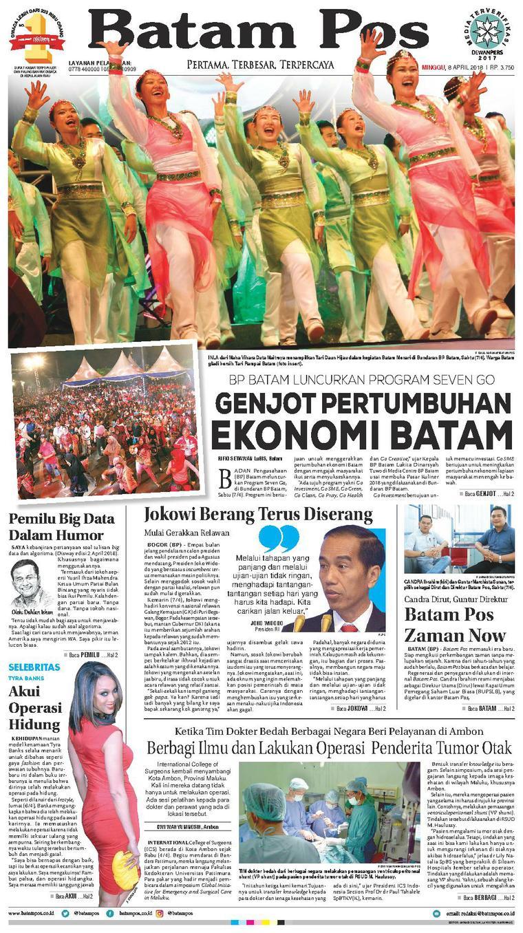 Koran Digital Batam Pos 08 April 2018