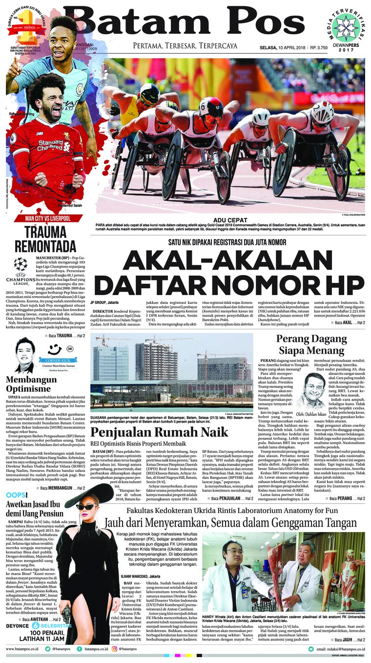Koran Digital Batam Pos 10 April 2018