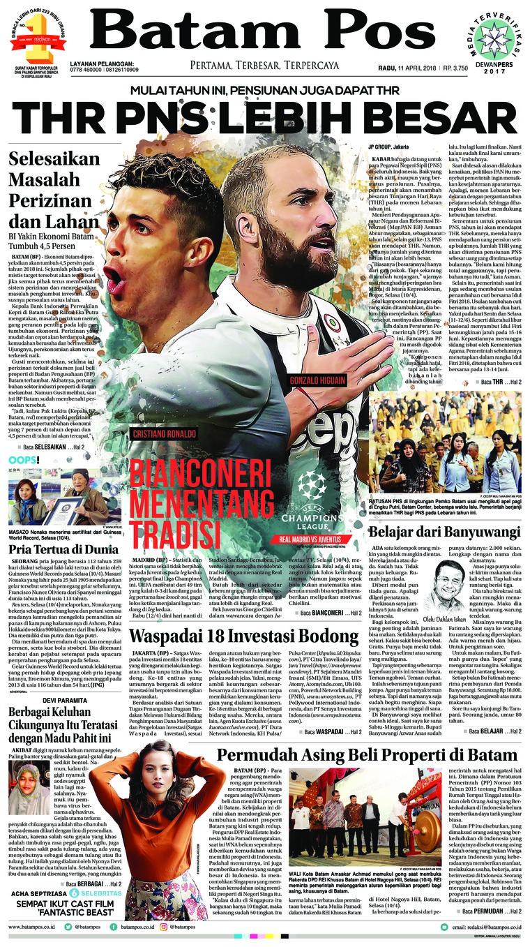 Koran Digital Batam Pos 11 April 2018