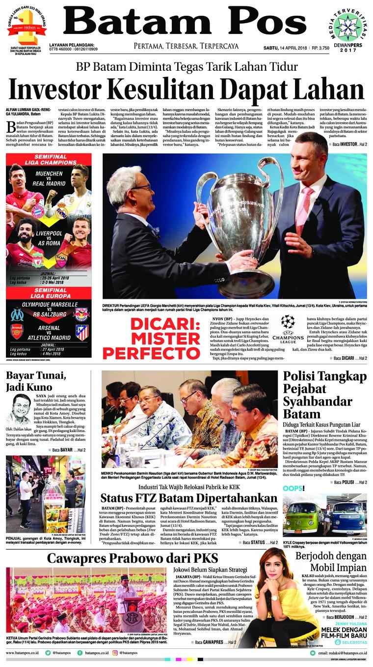 Koran Digital Batam Pos 14 April 2018