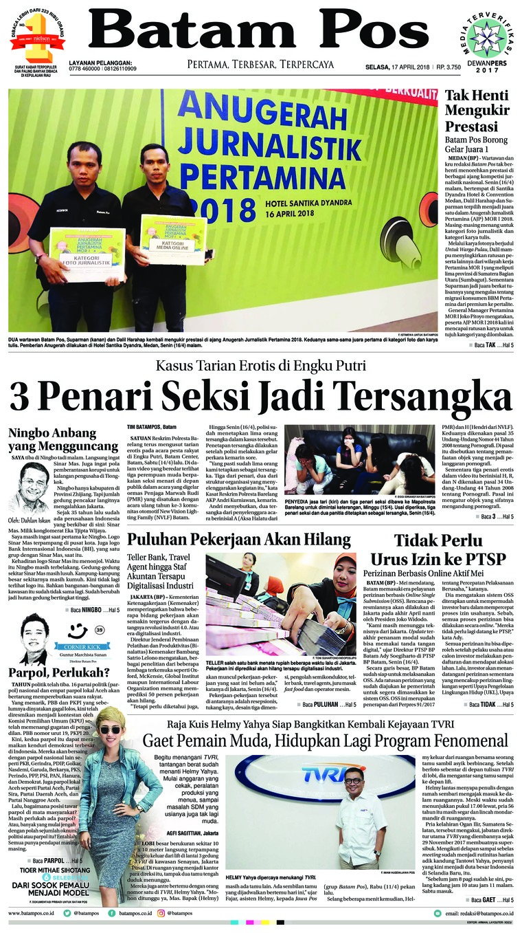 Koran Digital Batam Pos 17 April 2018