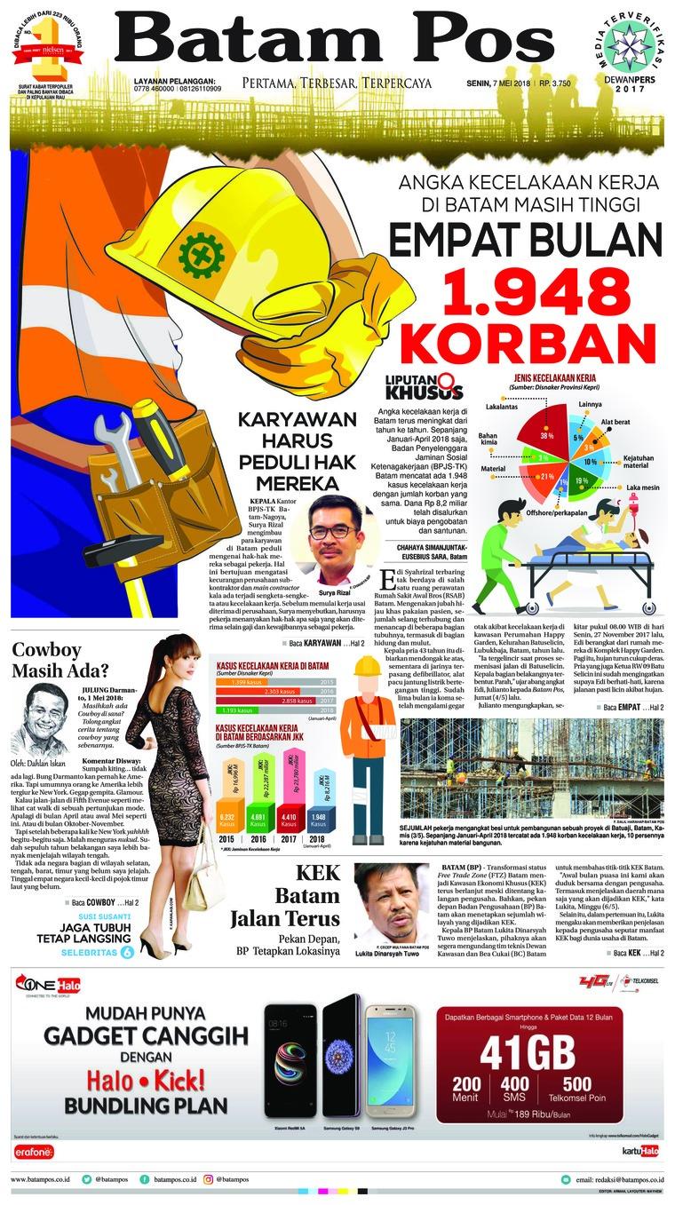 Koran Digital Batam Pos 07 Mei 2018