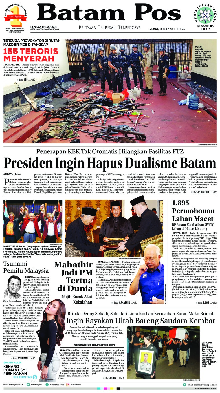 Batam Pos Digital Newspaper 11 May 2018